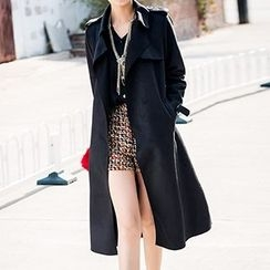 YiGelila - Tie-Waist Trench Coat