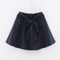 Meimei - Striped A-Line Skirt