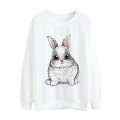 Maymaylu Dreams - Long Sleeve Rabbit Printed Tee