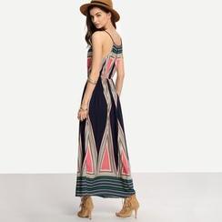 Hanni - 图案吊带长裙