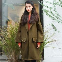 Woodie - Long Knit Coat