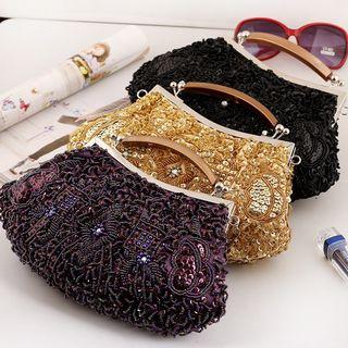 Moonflower - Beaded Handbag