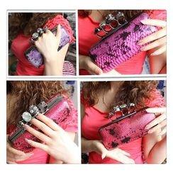 Glam Cham - 蛇紋印花手包