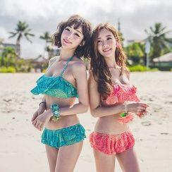 Shanyoo - Ruffle Trim Bikini