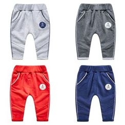 DEARIE - Kids Contrast Trim Sweatpants