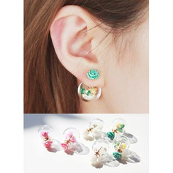 kitsch island - Floral Stone Earrings