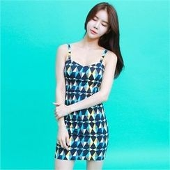 clubber - Pattern-Print Sleeveless Minidress