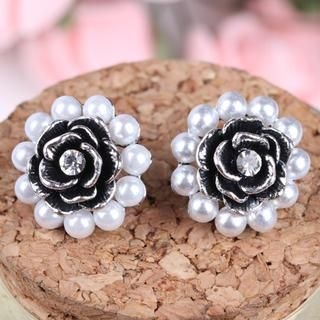 Supermary - Corsage Accent Beaded Earring