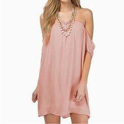 Richcoco - Off-Shoulder Chiffon Dress