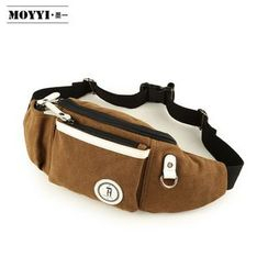 Moyyi - Applique Canvas Waist Bag