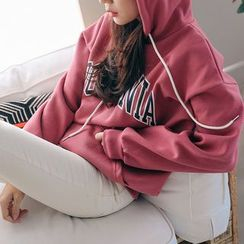 PPGIRL - Lettering Hooded Top