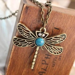 TAIPEI STAR - Jeweled Dragonfly Necklace