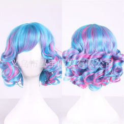Wigstar - Party Short Full Wig - Highlighted & Wavy