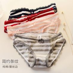 Fitight - Lace-Trim Striped Panties