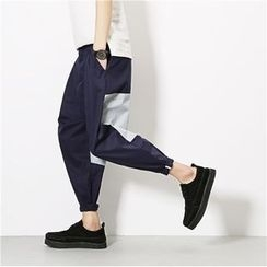 Soulcity - Cropped Color Panel Harem Pants
