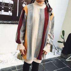 Cloud Nine - 長袖插色針織連衣裙