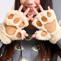 Home Simply - Paw Fleece Mittens