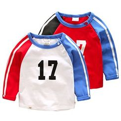 Kido - Kids Long-Sleeve Color Block T-Shirt