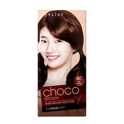 The Face Shop - Stylist Silky Hair Color Cream (#8C Choco Brown) 130ml
