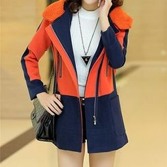 Swish - Color-Block Zip Coat