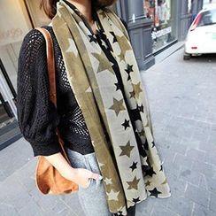 Rita Zita - 星星印花薄围巾
