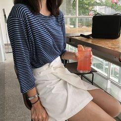 UPTOWNHOLIC - 3/4-Sleeve Striped T-Shirt