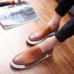 Furin - 2016新款男士樂福鞋英倫風復古低幫板鞋批發 韓版青年潮鞋懶人鞋
