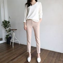 Hello sweety - Flat-Front Tapered Pants