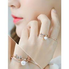 soo n soo - Butterfly Pendant Ring