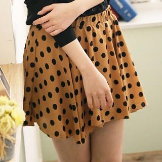 CatWorld - Elastic-Waist Dotted Skirt