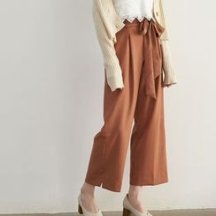 HORG - Bow Wide Leg Pants