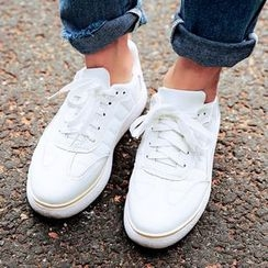 SouthBay Shoes - Faux Leather Sneakers
