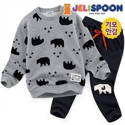 JELISPOON - Boys Set: Patterned Sweatshirt + Sweatpants