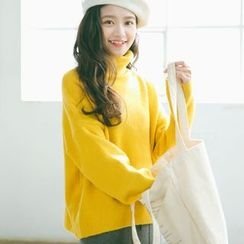 SUYISODA - Plain Turtleneck Sweater