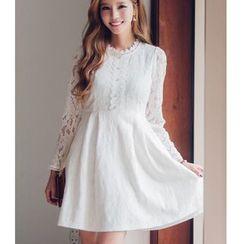 Dowisi - Lace Long-Sleeve Dress