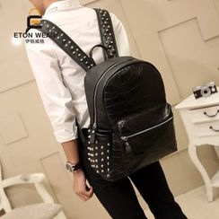 ETONWEAG - Studded Faux-Leather Backpack