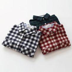 布丁坊 - 格纹衬衫