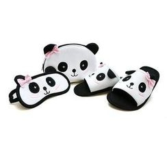 Betta - Ladies Panda Slippers Travel Set