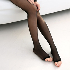 59 Seconds - Set of 2: Open-Toe Sheer Tights