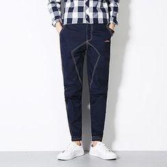 Telvi - 配色饰缝线哈伦裤