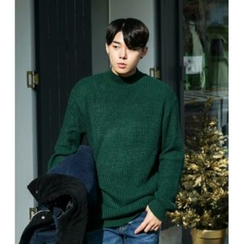 ABOKI - Mock-Neck Rib-Knit Sweater