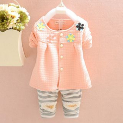 NIFTY - Kids Set : Floral Jacket + Stripe Pants