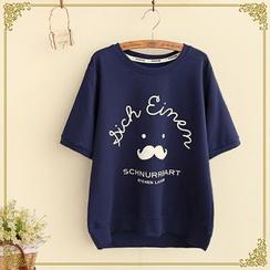 Fairyland - Mustache Print Short-Sleeve T-Shirt