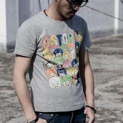 YIDESIMPLE - Cartoon-Print T-Shirt