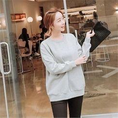 JOAMOM - Drop-Shoulder Brushed-Fleece Sweatshirt