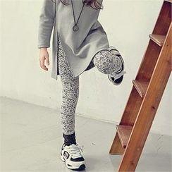 J-KIDS - Floral Pattern Laced Leggings