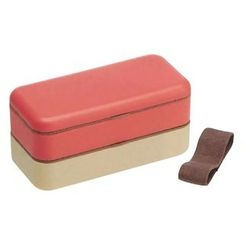 Skater - Earth Color Simple Lunch Box (Pink)