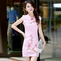 Swish - Floral Print Short Cheongsam