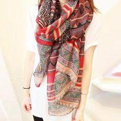 Sakana - 印花雪纺围巾