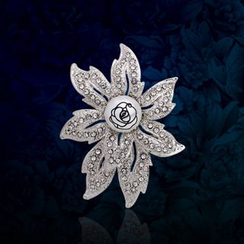 KINNO - 闪石花形胸针